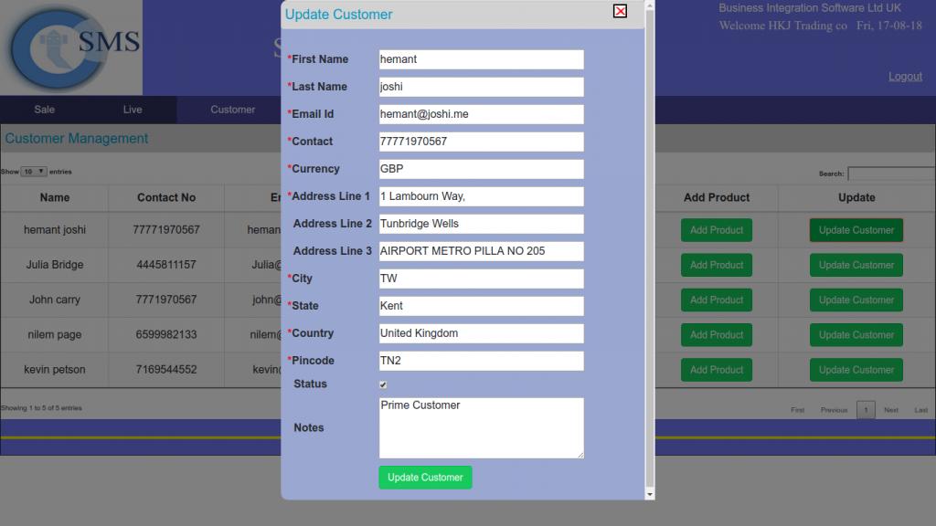 Customer Management Tool